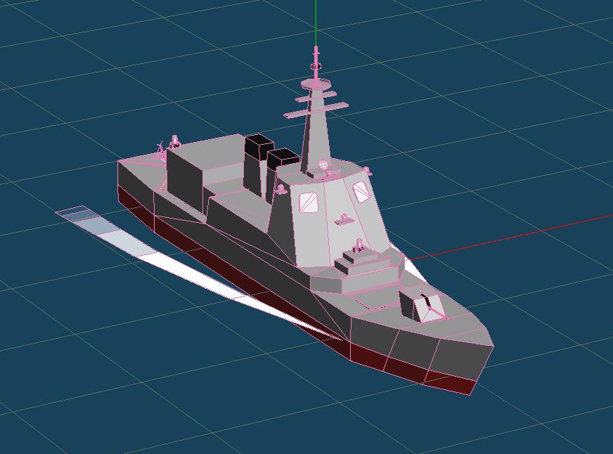 イージス艦「みらい」のMQO画像